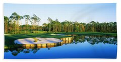 Golf Course At The Lakeside, Regatta Hand Towel by Panoramic Images