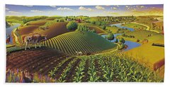 Harvest Panorama  Hand Towel by Robin Moline