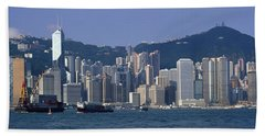 Hong Kong China Hand Towel by Panoramic Images