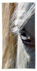 Horse Eye Hand Towel by Savannah Gibbs