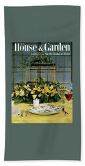 House And Garden Cover Bath Towel
