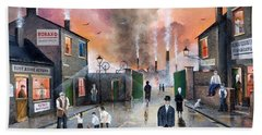 Hand Towel featuring the painting Images Of The Black Country by Ken Wood