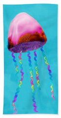 Bath Towel featuring the painting Jelly The Fish by Deborah Boyd