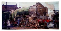 Hand Towel featuring the painting Kenilworth On Shed. by Mike  Jeffries