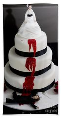 Killer Bride Wedding Cake Bath Towel