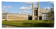 Hand Towel featuring the photograph Kings College Cambridge by Tom Gowanlock