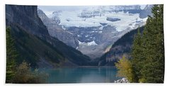 Lake Louise In Fall Bath Towel by Cheryl Miller