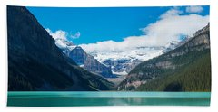 Lake With Canadian Rockies Hand Towel