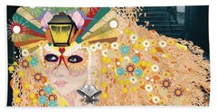 Bath Towel featuring the digital art Lantern Fairy by Kim Prowse