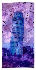 Leaning Tower Of Pisa 2 Hand Towel