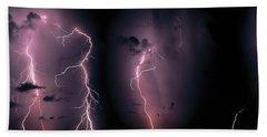 Lightning, Thunderstorm, Weather, Sky Hand Towel
