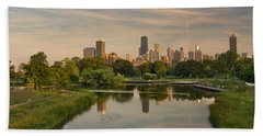 Lincoln Park Lagoon Chicago Hand Towel