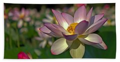 Bath Towel featuring the photograph Lotus Flower by Jerry Gammon