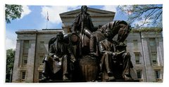 Low Angle View Of Statue Hand Towel by Panoramic Images