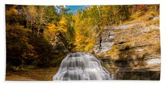 Lower Treman Falls Bath Towel