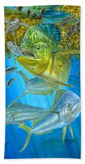 Mahi Mahi Hunting In Sargassum Bath Towel