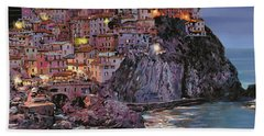 Manarola At Dusk Hand Towel