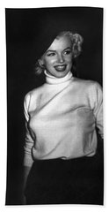 Marilyn Monroe In Korea Hand Towel by Underwood Archives