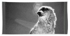 Medicine Wolf Bath Towel by Deborah Moen