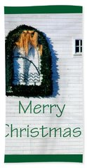 Merry Christmas Barn 1191 Hand Towel