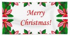 Merry Christmas Bath Towel