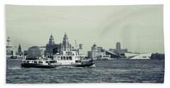 Mersey Ferry Hand Towel by Spikey Mouse Photography