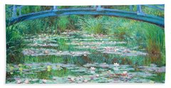 Hand Towel featuring the photograph Monet's The Japanese Footbridge by Cora Wandel