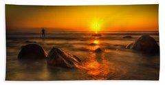 Montauk New York Summer Sunrise Bath Towel