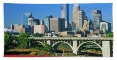 Morning View Of Minneapolis, Mn Skyline Bath Towel