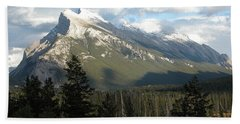 Mount Rundle Hand Towel by Stuart Turnbull