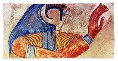 Mural Depicting Falcon Head Bath Towel