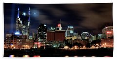 Nashville Panoramic View Hand Towel by Frozen in Time Fine Art Photography