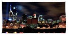 Nashville Panoramic View Hand Towel