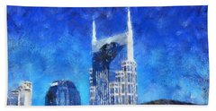 Nashville Skyline Hand Towel by Dan Sproul