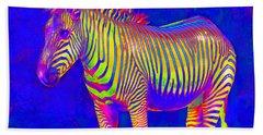 Neon Zebra 2 Bath Towel by Jane Schnetlage
