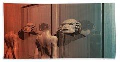 Bath Towel featuring the digital art New Faces by John Alexander