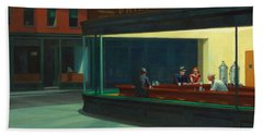 Nighthawks Hand Towel by Edward Hopper