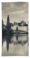 Novodevichy Monastery At Late Hand Towel