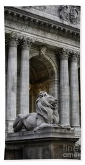 Ny Library Lion Hand Towel