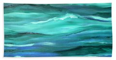 Ocean Swell By V.kelly Hand Towel