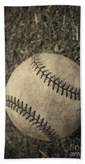 Old Baseball Bath Towel