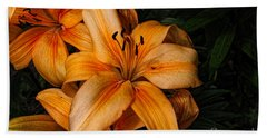 Orange Lilies Bath Towel