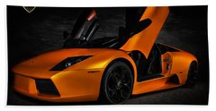 Orange Murcielago Bath Towel