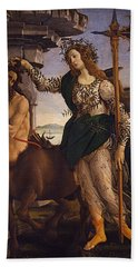 Pallas And The Centaur Hand Towel by Sandro Botticelli