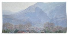 Palm Springs Landscape With Shack Hand Towel