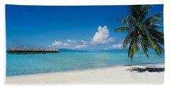 Palm Tree On The Beach, Moana Beach Hand Towel