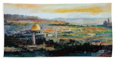 Panorama Of Jerusalem Hand Towel