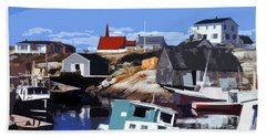 Peggy's Cove Bath Towel by Lydia Holly