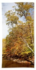 Pennsylvania Stream In Autumn Bath Towel