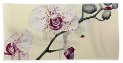 Phalaenopsis Black Panther Orchid Hand Towel